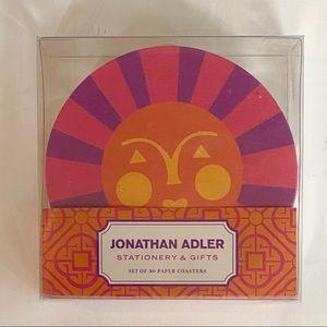 JONATHAN ADLER Paper Coasters Set 20 Smiling Sun